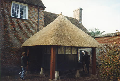 Thatched game larder