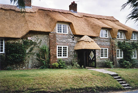 Rethatched cottage in water reed, Higher Ansty Dorset